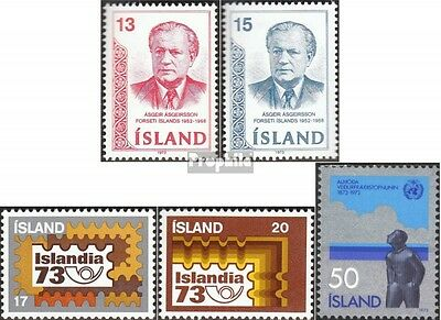Iceland 480-481,482-483,484 (complete issue) unmounted mint / never hinged 1973