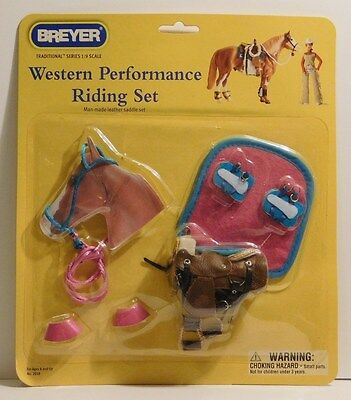 BREYER #2018 Western Performance Riding Set  NEW In Package Beautiful Saddle Set