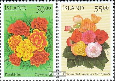 Iceland 1051-1052 mint never hinged mnh 2004 summer flowers