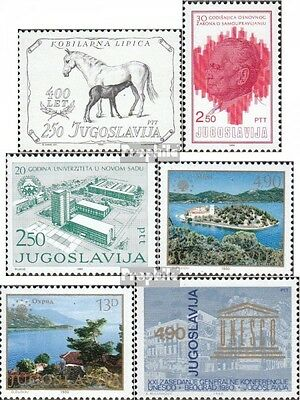 Yugoslavia 1844,1845,1846, 1847-1848,1853 mint never hinged mnh 1980 special sta