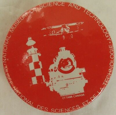 Vintage Science And Technology Museum Ottawa Pin Pinback Button       (Inv12924)