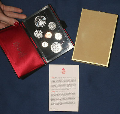 """1976 """"double Dollar"""" Canada Proof Set In Original Packaging  Lot 230843"""