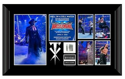 *wwe Undertaker Wrestlemania 32 Commemorative Plaque Limited Edition New Mint*