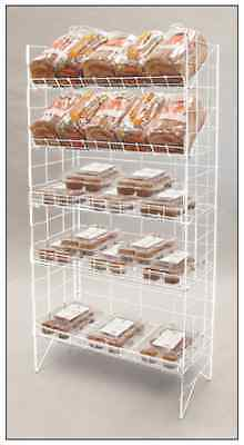 AYS 5-Tier Adjustable Wire Shelf Retail Product Display Rack (White)