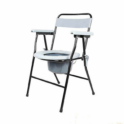 New Folding Bedside Bathroom Toilet chair commode seat shower potty chair safety
