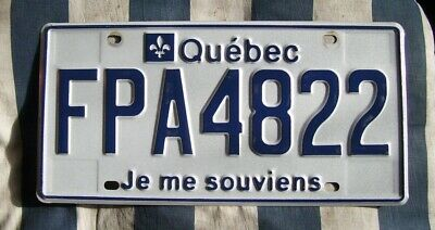QUEBEC CANADA CANADIAN AMERICAN LICENSE NUMBER PLATE #Qu