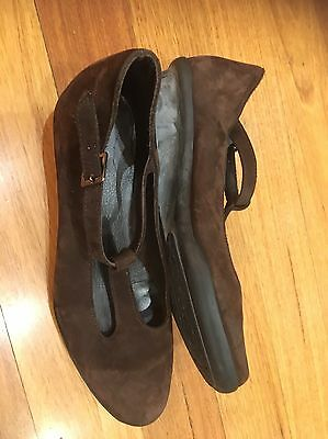 Arche Leather Shoes Size 39 (Size 8.5) France Brown Good Condition Rrp$249 Soft