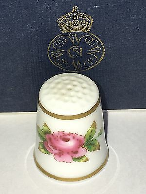 FINGERHUT Thimble Porzellan Porcelain Royal Worcester Pink Rose 🌹