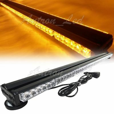 "50"" 288W LED Emergency Beacon Warning Double Side Rooftop Strobe Light Bar Amber"