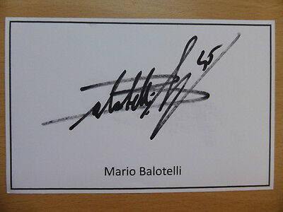 Hand Signed Football Index Cards *****B***** Page 1
