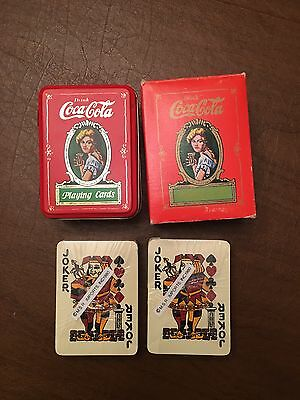 Vintage, c1980,Coca Cola, Marion Davies,Tin Boxed Playing Cards