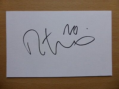 Hand Signed Football Index Cards *****D***** Page 4