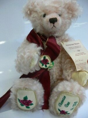 HC 218 Hermann Coburg Teddy Victoria Rose Mohair/Holzwolle