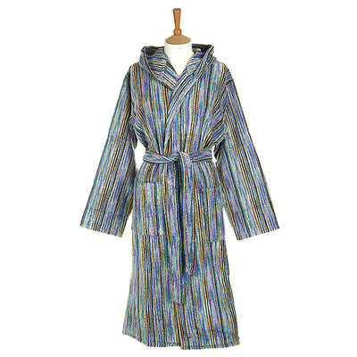 Missoni Home multicolor robe on hooded blue-measures 3 M