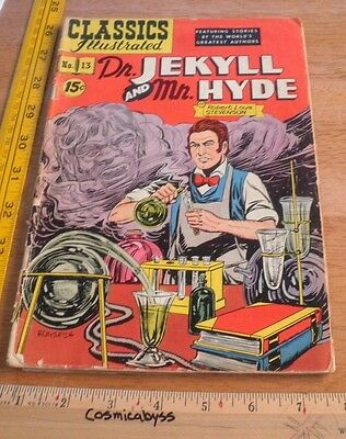 Classics Illustrated Comic #13 Dr. Jekyll and Mr. Hyde G 1950's HRN 87
