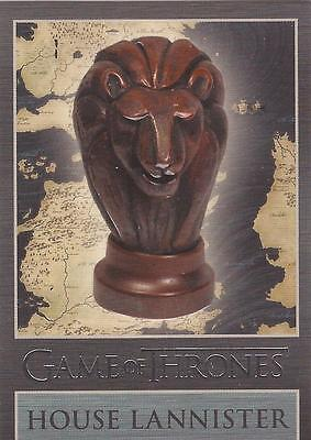 "Game of Thrones Season 3 - ""Lannister"" Embossed Map Marker Sigil Chase Card MM1"