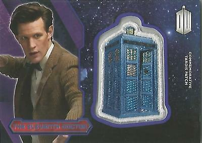"Topps Doctor Who 2015 - ""The Eleventh Doctor"" PURPLE Tardis Patch Card #38/99"