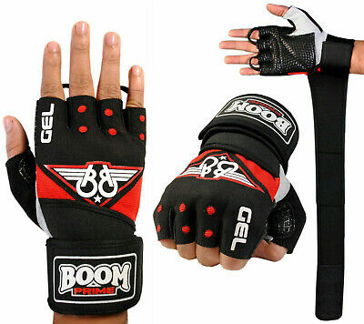 Weight Lifting Gloves Gel Padded Gym Strap Fitness Workout Training Bodybuilding