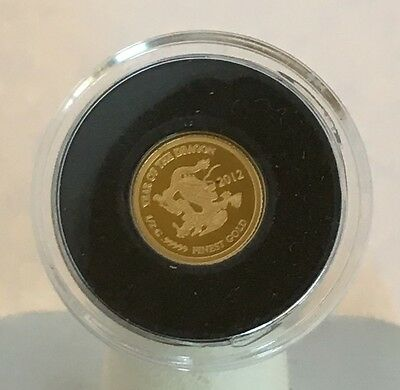2012 Laos Year of the Dragon Gold 500 Kip Proof Coin