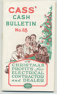Cass' 1926 Booklet of Electrical items for resale