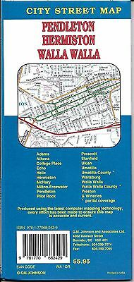 City Street Map of Walla Walla, Washington & Pendleton, Hermiston, OR, by GMJ