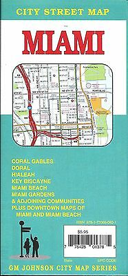 City Street Map of Miami, Florida and surrounding area, by GMJ Maps