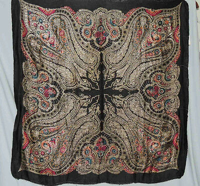 1920-30's Metallic Silk Brocade Lame' Shawl / Panel