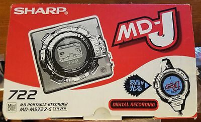 Sharp MD-MD-MS722 MiniDisc Recorder - Full Package - Includes 2 Stereo Mics