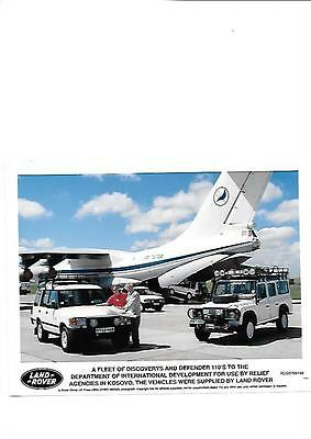 Land Rover Defender And Discovery Original Press Photo 'brochure Related'