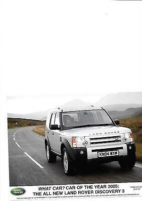 Land Rover Discovery 3 Car Of The Year Original Press Photo 'brochure Related'
