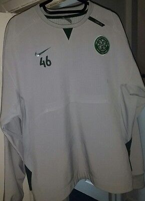 Nike CELTIC FOOTBALL CLUB pull over Jacket Jersey Size L