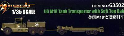 Merit - US M19 Tank Transporter With Soft Top Cap 1:35 model kit Solid NEW