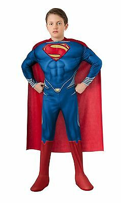 BRAND NEW Licensed Man Of Steel DELUXE CHILD SUPERMAN MUSCLE CHEST COSTUME