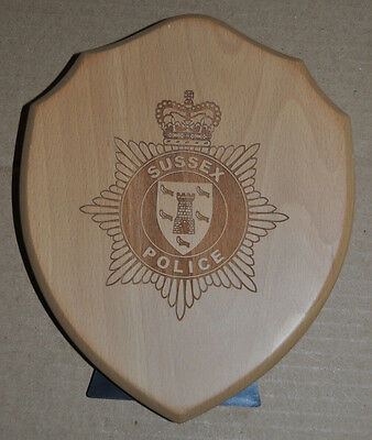 Sussex Police wall or desk plaque shield crest constabulary