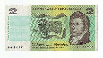 $2 Paper Banknote Commonwealth of Australia Coombs Wilson FGF  Series M-645
