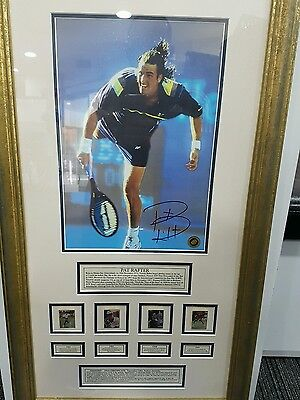 Pat Rafter Signed & Framed Memorabilia US open and N 1 in the world