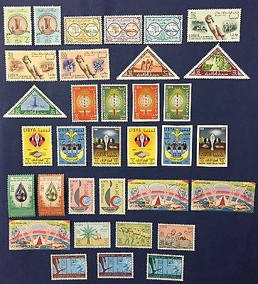 Libya 1961/63 Lot Of 34 Stamps Set Never Hinged Mnh** Two Set Imperf Rare Spl