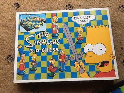 The Simpsons 3D Chess Set - Collectors Item
