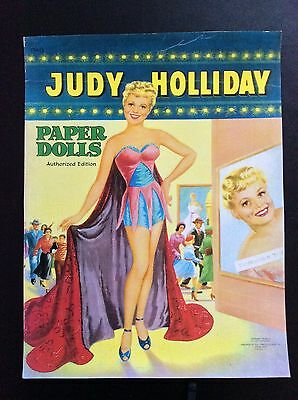 1954 Film Star JUDY HOLIDAY Paper Doll Repro, Uncut