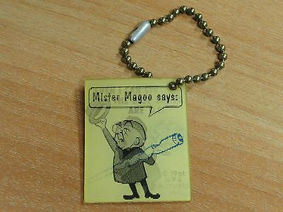Mister Magoo Can See Best Lamps Are G-E Flicker If Found Return To 1961 Keychain