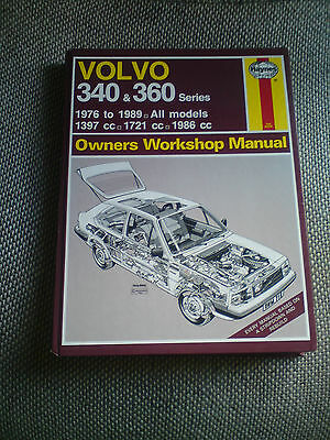Haynes Manual For Volvo 340&360 All Models , Very Good Condition
