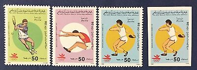 Libya 1992 Set Olympic Games Of Barcellona 1 Stamps 50 Imperf Never Hinged Mnh**