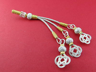 Trabzon kazaz hand-knitted Metal tassel 1000 silver  Islamic Prayer Beads 301304