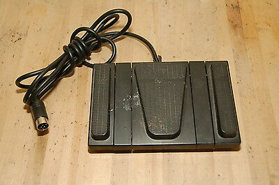 SANYO FOOT CONTROL model FS-54 dictation transcriber pedal 3 button switch