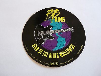 """BB King Blues Guitar RARE Band Tour Concert Issued 5"""" Luggage Sticker PROMO"""
