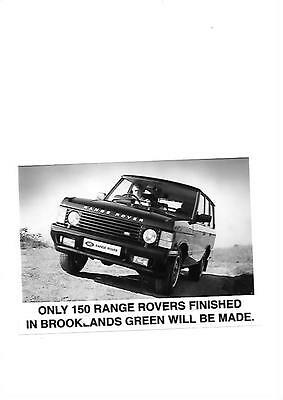 Range Rover 'brooklands Green' Press Photo 'brochure Related'