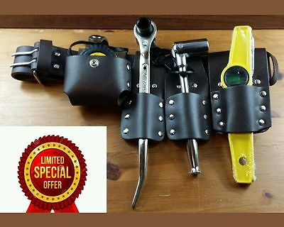 Scaffolding Reall Leather Belt, With 4 Pcs Tool Set Uk Branded.