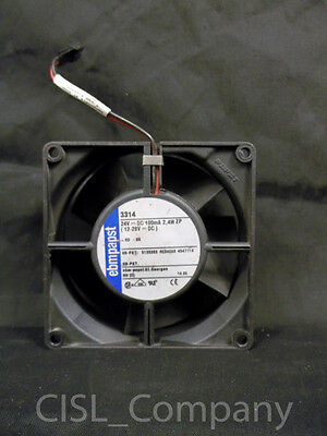 """Ebmpapst 3314 Axial Cooling Fan 24VDC 100mA 2.4W 3-5/8"""" X 1-1/4"""" Free Shipping"""