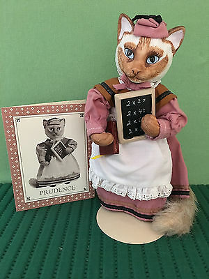Rare, Retired Colonial Cat, Prudence from New Jersey, Franklin Mint Collectible