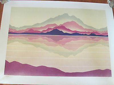 Lithograph  Echoe Hand Signed Tom Wood Limited Edition 114/350